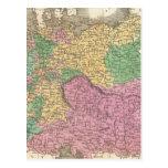 Mapa del vintage de Alemania (1827) Postal