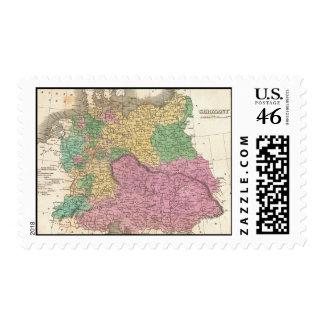 Mapa del vintage de Alemania 1827