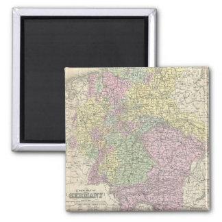 Mapa del vintage de Alemania (1853) Imán Cuadrado