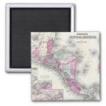 Mapa del vintage de America Central (1864) Imán