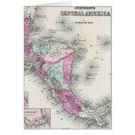 Mapa del vintage de America Central (1864) Tarjetón