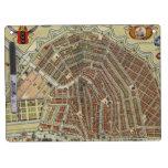 Mapa del vintage de Amsterdam (1688) Pizarra