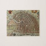 Mapa del vintage de Amsterdam (1688) Puzzle