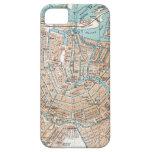 Mapa del vintage de Amsterdam (1905) iPhone 5 Case-Mate Protector
