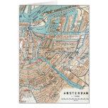 Mapa del vintage de Amsterdam (1905) Tarjeta