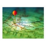 Mapa del vintage de AMSTERDAM Postal