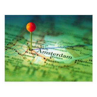 Mapa del vintage de AMSTERDAM Postales