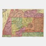 Mapa del vintage de Arizona (1909) Toallas De Mano