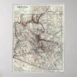 Mapa del vintage de Arizona (1911) Póster