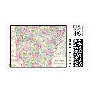 Mapa del vintage de Arkansas 1855