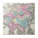 Mapa del vintage de Asia (1855) Azulejos Cerámicos