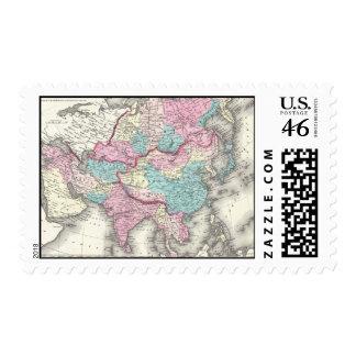 Mapa del vintage de Asia 1855