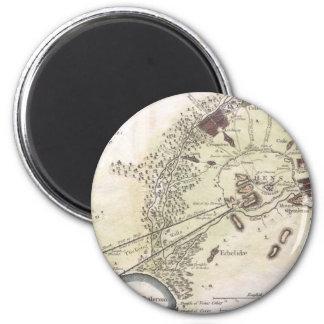 Mapa del vintage de Atenas (1784) Imán Redondo 5 Cm
