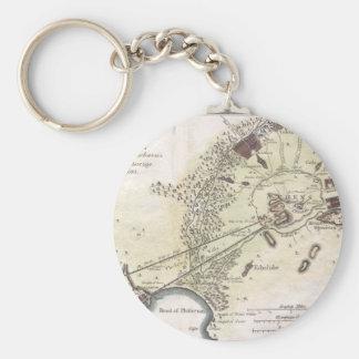 Mapa del vintage de Atenas (1784) Llavero Redondo Tipo Pin