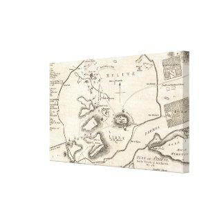 Mapa del vintage de Atenas Grecia (1784) Impresion En Lona