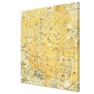 Mapa del vintage de Atenas Grecia (1894) Impresion En Lona