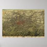 Mapa del vintage de Atlanta (1892) Posters