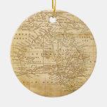 Mapa del vintage de Australasia Adornos