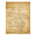 Mapa del vintage de Australasia Postales