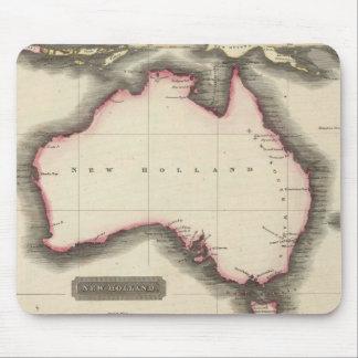 Mapa del vintage de Australia (1817) Alfombrillas De Ratón