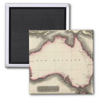 Mapa del vintage de Australia (1817) Imán Cuadrado