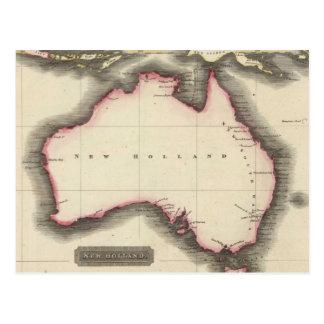 Mapa del vintage de Australia (1817) Postales
