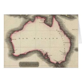 Mapa del vintage de Australia (1817) Tarjeta De Felicitación