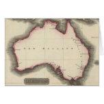 Mapa del vintage de Australia (1817) Tarjeton