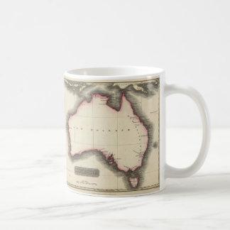 Mapa del vintage de Australia (1817) Taza De Café