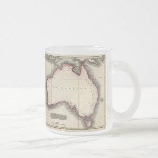 Mapa del vintage de Australia (1817) Taza De Café Esmerilada