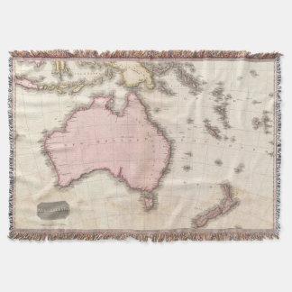 Mapa del vintage de Australia (1818) Manta