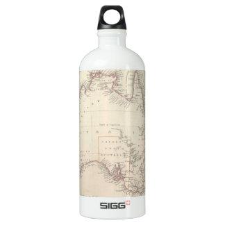 Mapa del vintage de Australia (1848) Botella De Agua