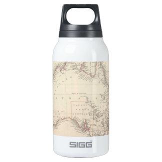 Mapa del vintage de Australia (1848) Botella Isotérmica De Agua