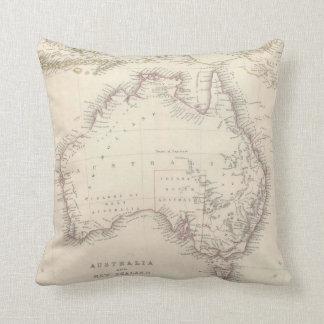 Mapa del vintage de Australia (1848) Cojín Decorativo