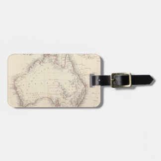 Mapa del vintage de Australia (1848) Etiquetas Para Maletas