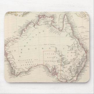 Mapa del vintage de Australia (1848) Mousepads
