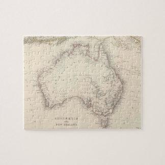 Mapa del vintage de Australia (1848) Puzzle Con Fotos