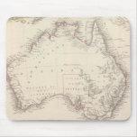Mapa del vintage de Australia (1848) Alfombrillas De Raton