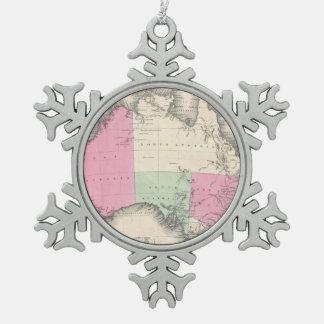 Mapa del vintage de Australia (1862) Adorno De Peltre En Forma De Copo De Nieve