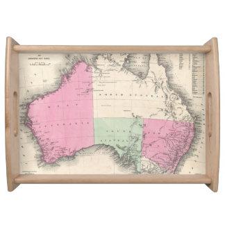 Mapa del vintage de Australia (1862) Bandeja