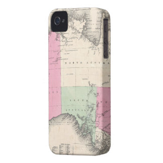 Mapa del vintage de Australia (1862) iPhone 4 Case-Mate Funda