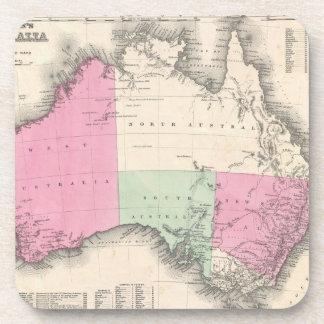 Mapa del vintage de Australia (1862) Posavaso