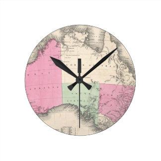 Mapa del vintage de Australia (1862) Relojes De Pared