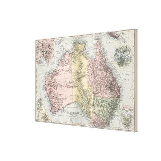 Mapa del vintage de Australia (1891) Impresión En Lienzo