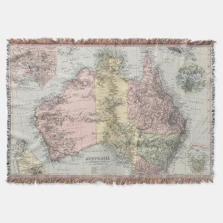 Mapa del vintage de Australia (1891) Manta