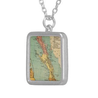 Mapa del vintage de Baja California (1899) Colgante Cuadrado