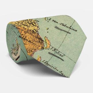 Mapa del vintage de Baja California (1899) Corbata Personalizada