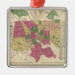Mapa del vintage de Baltimore (1873) Ornatos