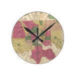 Mapa del vintage de Baltimore (1873) Reloj Redondo Mediano