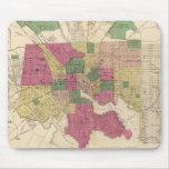 Mapa del vintage de Baltimore (1873) Tapete De Ratones